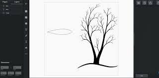 tutorials drawing tree vector graphic