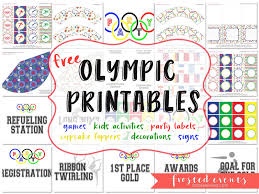 printable birthday decorations free olympics for kids olympic games and free party printables frosted moms