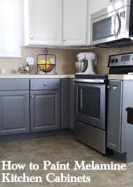can laminate kitchen cupboards be painted painting melamine kitchen cabinets the decorologist