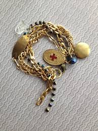 gold multi chain bracelet images Gold multi strand bracelet with rhinestones and charms crush jpg