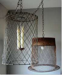 Burlap Chandelier Lovable Wire Basket Chandelier Wire Basket Lighting Line With