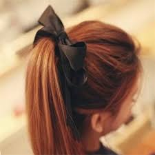 ribbon ponytail 1pcs women tiara satin ribbon bow hair band rope scrunchie