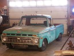 Old Ford Truck Engine Swap - 1966 f100 start of project 1966 f100 crown vic body swap