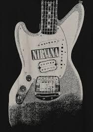 Nirvana Blind Pig Nirvana Guitar Image Discharge T Shirt