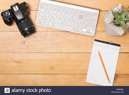 working desk flat lay view working desk stock photos flat lay view working