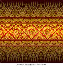 thai ornament background stock vector 466259258