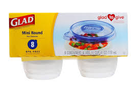 Cup Storage Containers - 8 glad mini round 1 2 cup food storage containers round 4oz bowl