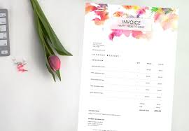florist invoice template invoices floral bill of sale free sample