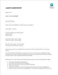 Sample Investment Agreement Airbnb Guest Short Term Rental Agreement Templates At