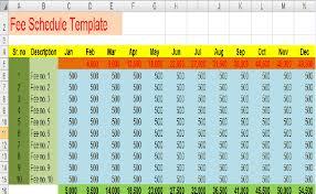 Payment Schedule Excel Template Fee Schedule Template 7 Free Templates Schedule Templates