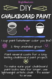 brightnest how to make diy chalkboard paint