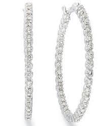 small diamond hoop earrings diamond hoop earrings shop diamond hoop earrings macy s