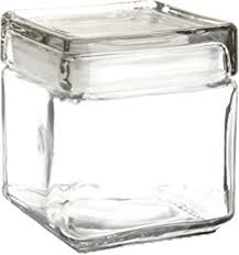 amazon com anchor hocking 85753 stackable square jar food savers