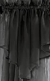 Black Scarf Valance Sheer Window Scarf Valance