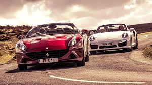 Ferrari California Back - ferrari california t vs porsche 911 turbo
