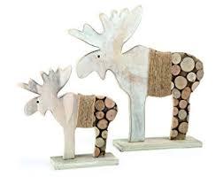 weihnachtsdekoration aus holz de small foot 10208 deko elch baumscheiben 2er set
