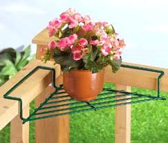 patio ideas corner deck railing planter flower pot rail wire