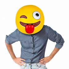 emoji mask emoji mask lightweight party mask bigmouth inc
