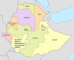 Ethiopia Map Africa by Ethiopia Attraction