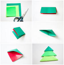 How To Make Origami Christmas Cards Diy Origami Christmas Tree Pop Up Card
