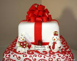 winter wedding cake topper snowmen bride and groom winter
