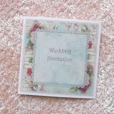 shabby chic wedding invitation shabby roses and lace x 5 ref 117