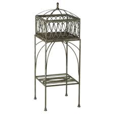 Metal Planter Box by Plant Stand Bombay Outdoors Lyon Filigree In W X H Brown Metal