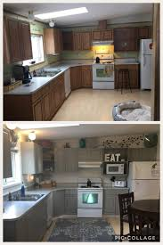 can mobile home kitchen cabinets be painted before and after painting my oak cabinets prime 1 2 3