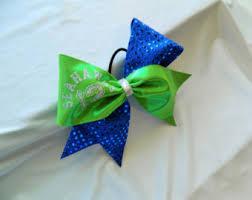 seahawk ribbon seahawks cheer bow etsy