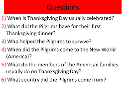 thanksgiving day an american the pilgrims came to america