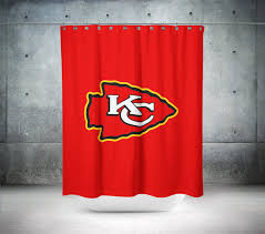 Nfl Shower Curtains Kansas City Chiefs Nfl Shower Curtain By Showerink On Zibbet
