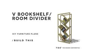 Furniture Plans Bookcase by Diy Furniture Plans How To Build A V Bookshelf Room Divider