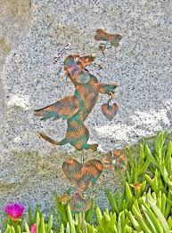 Sheet Metal Garden Art - dachshund pet memorial stake metal garden art copper art