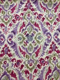 Purple Ikat Curtains Modern Ikat Purple Green Plum Upholstery Fabric Fabric By The