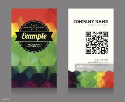 business card template with qr code vector art getty images