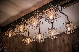 Steunk Light Fixtures Bbq A Bikers Complex Infused With Vintage And Industrial
