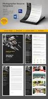 creative photographer resume cover letter portfolio template