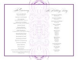 design templates print wedding party program template business