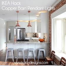 img farmhouse pendant lighting kitchen copper barn light ikea hack