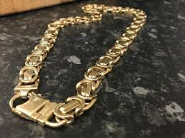 mens byzantine necklace gold images Mens 9ct gold byzantine necklace chain not belcher curb rolex in JPG