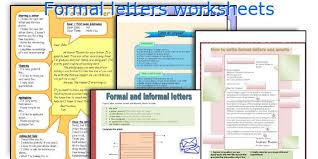 english teaching worksheets formal letters
