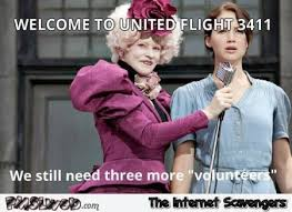 Hunger Games Memes Funny - funny united airlines hunger games meme pmslweb
