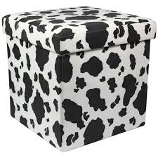 storage cube ottoman decor snazzy cow print ottoman design furnishing your cute home
