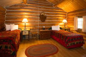 Log Cabin Interior Bedroom Colter Bay Village