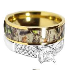 Wedding Rings Sets For Him And Her by Camo Wedding Rings For Her Camo Wedding Ring Set For Him And Her