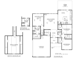 One Story Floor Plans With Bonus Room by Houseplans Biz House Plan 1688 C The Chase C