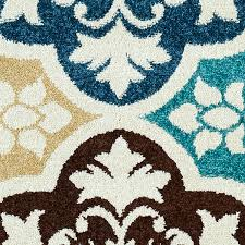 8x10 Outdoor Rug Summer Tile Aqua Indoor Outdoor Rug