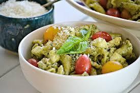 pasta salad pesto pesto chicken pasta salad