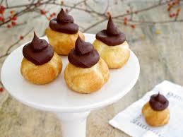 jenny steffens hobick chocolate fudge topped petite cream puffs