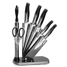 2017 stocked high quality stainless steel kitchen knife set with
